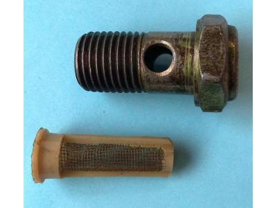 Болт пустотелый М14 с фильтр-сеткой (штуцер топливный) H HOWO (ХОВО) 90003962612 фото 1 Казань