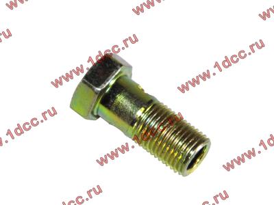 Болт пустотелый М10х1,0 (штуцер топливный) H HOWO (ХОВО) 81500070054 фото 1 Казань