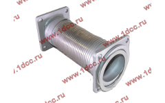 Гофра-труба выхлопная с квадратными фланцами FN для самосвалов фото Казань